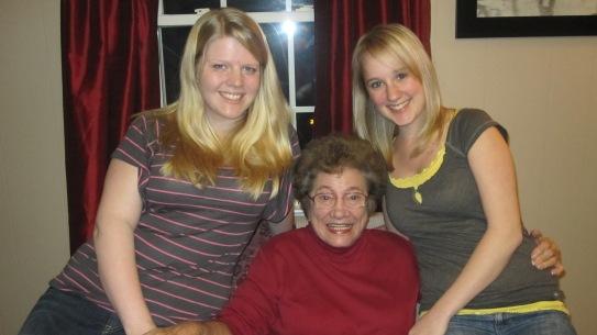 2010 - Grandma Reva, me and my cousin Krystle