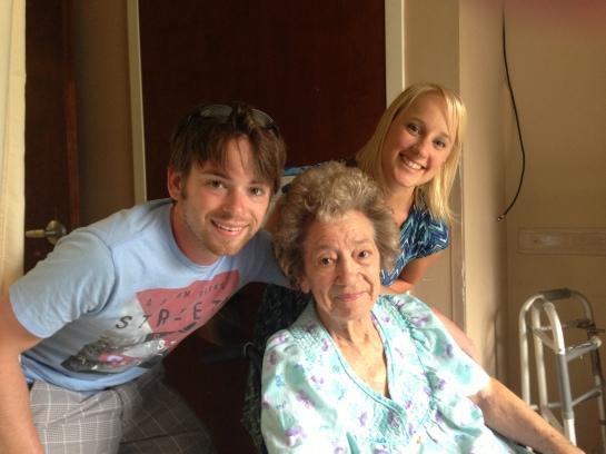 2013 - Me and TJ with Grandma Reva